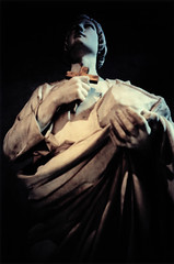 Solo un miracolo (ale2000) Tags: love church saint statue lca xpro darkness cathedral kodak miracle crossprocess faith christian chiesa hate photowalk marble statua adore amore cristiano fede santo buio cattedrale cattolico marmo sangiusto odio miracolo epr cattedraledisangiusto aledigangicom