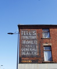 Ghostsign in Barrow (Tony Worrall Foto) Tags: old uk england urban house building sign wall corner town northwest notice decay north faded cumbria advert signage info past information broker relic olden ghostsign bygone barrowinfurness buccleuchstreet fellsfurniture