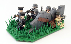 """Last Stand"" (Titolian) Tags: last soldier stand gun lego nazi wwii best american faced odds germans reload insurmountable"