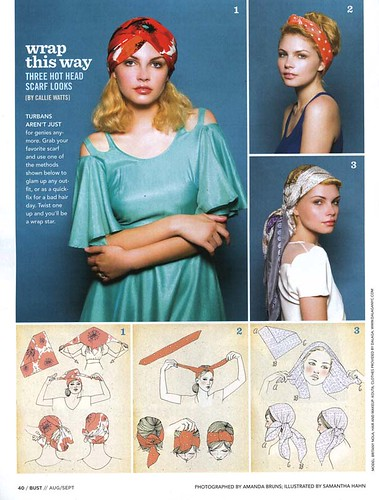 my illustrations in Bust Magazine