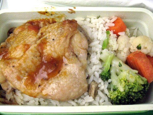 Eva Air chicken meal