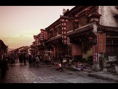 Dali town (Kaj Bjurman) Tags: china sunset dark eos 5d yunnan dali kina hdr kaj mkii markii cs4 photomatix bjurman