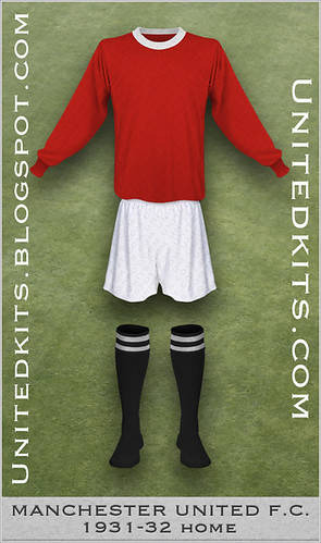 Manchester United 1931-1932 Home kit