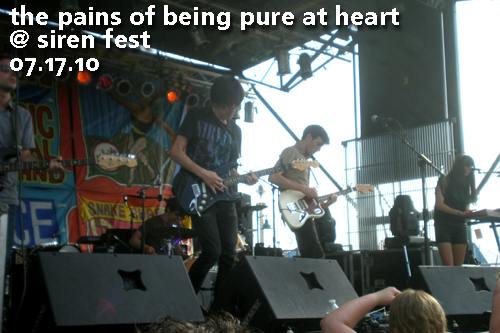 Pains of Being Pure at Heart at the 10th Annual Village Voice Siren Music Festival, July 17, 2010