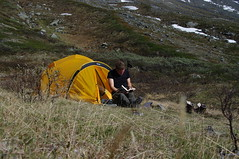 Jotunheimen 2010, Holger voor zijn tent