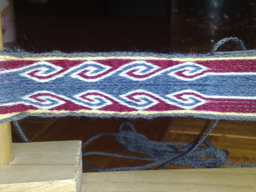 Ramshorn pattern on the loom