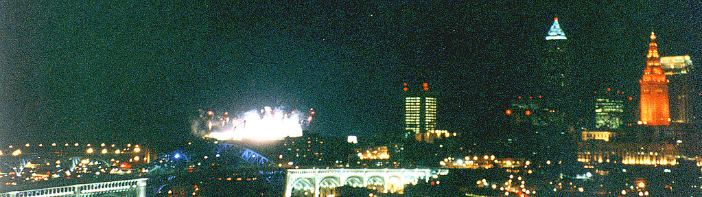 Cleveland skyline, Sept. 12, 1999