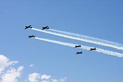 Eden Prairie AirExpo 2010 (dpollitt) Tags: blue sky minnesota flight trails airshow eden prairie 2010