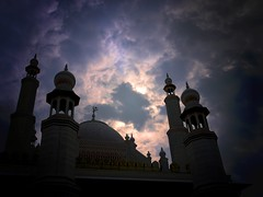 Let mercy be your mosque, faith your prayer-mat, and honest living your Koran. (legends2k) Tags: sky silhouette clouds lumix evening twilight dusk unity faith belief mosque panasonic g1 hyderabad secular ramojifilmcity kahlilgibran fourthirds mywinners microfourthirds panasonicdmcg1