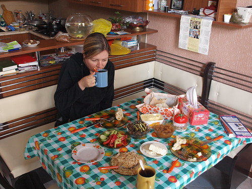 Am Frühstückstisch bei Nana