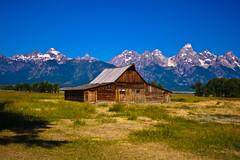 Grand Tetons (John J Cooper) Tags: trees sky mountains grass barn pasture mormonrow moultonbarn