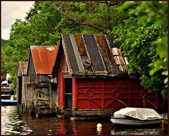 Loch Ness Boathouses (blamstur) Tags: b lake water scotland three lochness boathouses 15challengeswinner