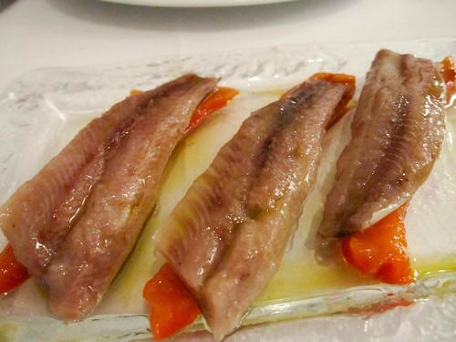 Lomos de sardina marinados