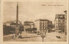 Piazza dell'Esquilino 1922 (LLRRAP) Tags: italy roma italia piazza 1922 lazio cartoline dellesquilino folignoetrevicomeerano viaggiate