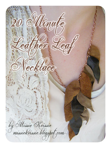 Leather Leaf Necklace Tutorial 1