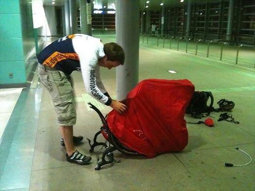 初輪行のオランダ人サイクリスト、Teun君