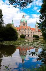 Rathaus Hannover + Maschteiche (HuemmelGuemmel) Tags: hannover rathaushannover maschteiche