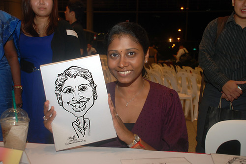 Caricature live sketching for KidsRead Volunteer Appreciation Day 2010 - 5