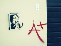 Eat You Alive (viva la vibs) Tags: streetart graffiti stencil nw pdx a vivalavibs