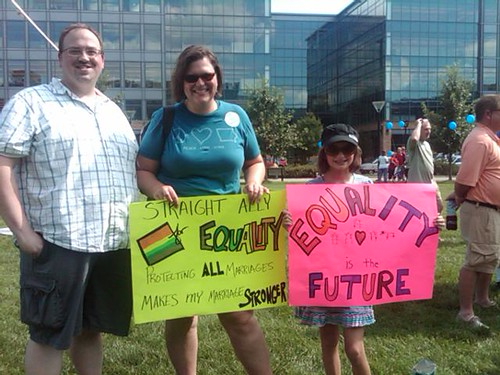 Straight family for equality in Des Moines!