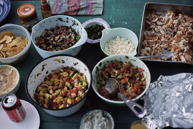 fish taco spread