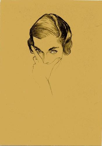 Bouché - Mona Bismark portrait