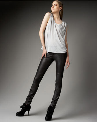 Joie -  Tarina Leather Leggings :  leather joie leather legging leggings