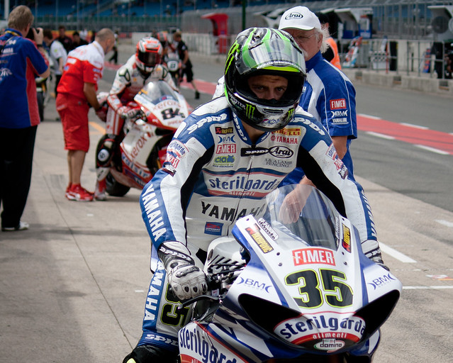 Cal Crutchlow in Pit Lane