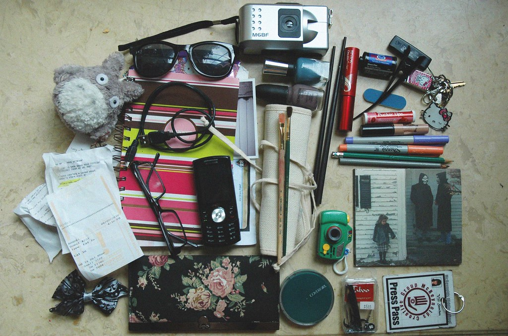 what i carry in my bag, minus the bag.