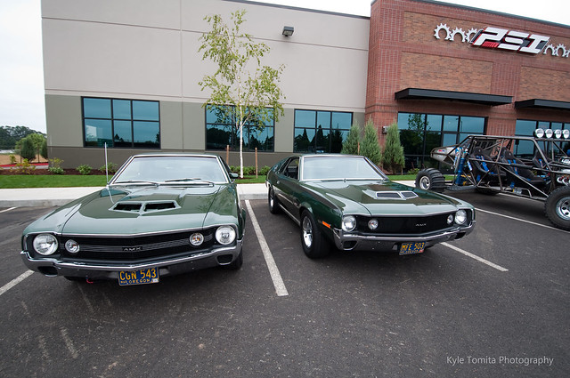 1970 AMC AMX's infront of PSI
