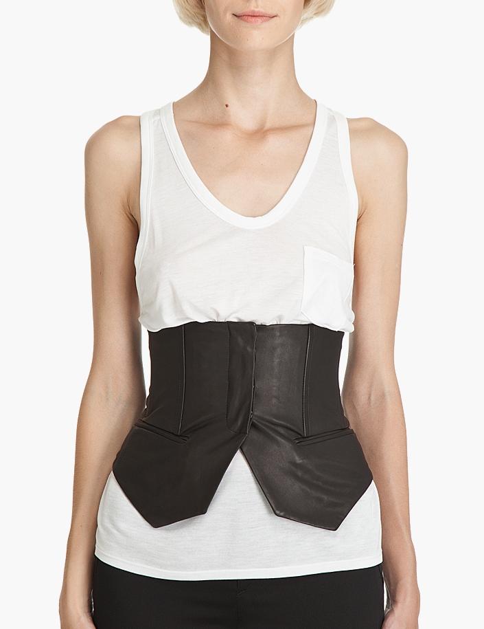 Alexander Wang leather vest corset belt 1