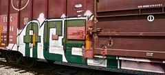 Acet (mightyquinninwky) Tags: graffiti tag graf tags tagged railcar boxcar graff graphiti freight stamped nme ekos eec buffed fr8 railart spraypaintart reflectivetape acet boxcarart platec wisconsincentralltd taggedboxcar paintedboxcar