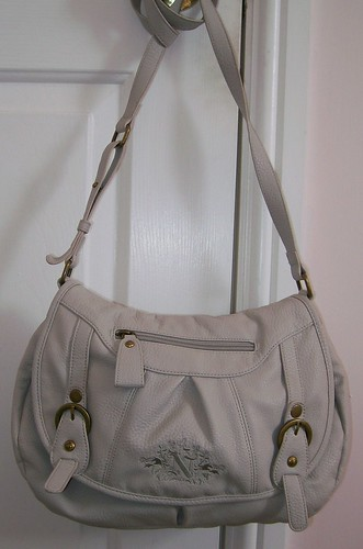 Nica grey saddle bag