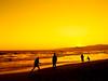 i go back to black (red.dahlia) Tags: sunset orange yellow losangeles waves silhouettes running venicebeach shadowplay amywinehouse totw nikond90 backtoblack thisisnotsquare igobacktoblack musicallychallenged vicandsardsawesomefestsomethinggroup