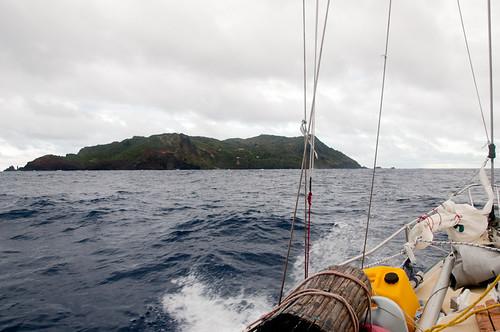 Landfall at Pitcairn.