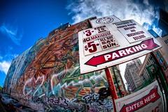 Joe's Auto Parks #236 (Mike Chen aka Full Time Taekwondo Dad) Tags: auto california usa mike la losangeles los mural downtown angeles sony parking parks joes alpha hdr chen discover ldr metalman a900 sal16f28