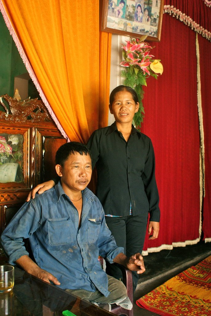 Mr. Tran Van Son and his wife