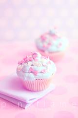 .Cupcakes. (pinkk_flame (pinkflame photography)) Tags: pink dessert photography cupcakes soft sweet pastel sugar polkadots cupcake pastry dreamy muffin buttercream pinkkflame pinkflamephotography pastelphotography