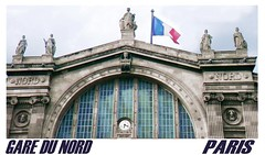 FRANCE, PARIS, GARE DU NORD,  train station, Bahnhof,    1864 ,   MDCCCLXIV (eagle1effi) Tags: city light red paris france building rot luz station collage architecture de favoriten rouge paul licht flickr bestof cityscape photos lumière landmarks experiment places selection landmark bleu fotos architektur garedunord bauwerk iledefrance blanc lux gebäude luce auswahl beste geschichte lumen damncool tricolore wahrzeichen свет sehenswürdigkeit define sehenswürdigkeiten 1864 selektion geschichten bauwerke saintvincent views500 bemerkungen amust storyabout lieblingsbilder eagle1effi lariboisière fisheyecorrection byeagle1effi drapeautricolore ae1fave φωσ yourbestoftoday saintvincentdepaullariboisière fotopedia mdccclxiv digitalshifted drapeautricolorebleu topptipp wikieffi guterzählt tagesbeste