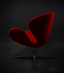 How to light a chair (low-key) (Fi20100) Tags: red classic canon eos design arnejacobsen interestingness swan chair furniture lounge boom explore 5d product iconic canonef2470mmf28lusm 2470l scandinavian midcenturymodern midcentury multiflash skyport homestudio lastolite elinchrom speedlite 2470 canoneos5d fritzhansen canonspeedlite430ex offcameraflash swanchair explored i500 strobist ezybox canonspeedlite540ez elinchromskyport elskyport