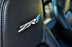 Identity (Mac K Photography) Tags: blue chevrolet leather logo nikon gm general interior seat motors chevy stitching inside corvette fastest vette vroom recaro zr1 headrest d5000