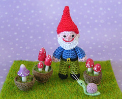Crochet Gnome Pattern (MUFFA Miniatures) Tags: cute mushrooms miniature funny doll handmade oneofakind ooak crochet amigurumi gnomes dollhouse toadstools gardengnome flyagaric muffa crochetpatterns ittybittybaby miniaturepatterns cdhm miniaturebaby threadminiature threadminiatureanimals