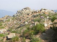 Old lookout site on Crystal Peak.