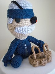 Old Snake Sackboy (Ami Amour) Tags: metal crochet gear amigurumi solid mgs sackboy