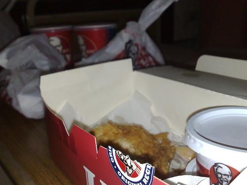 Sempat lagi makan KFC sebelum tanda-tanda seterusnya muncul.