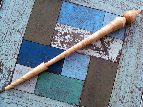 Birdseye Maple Hand-Turned Spindle