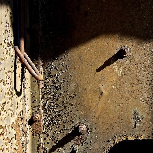 Ore hopper shadows - Selebi Phikwe, Botswana