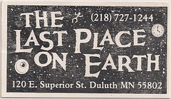 Last Place On Earth Buisness Card (Duluth, MN)