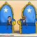 Prime Minister Abdirashid and President Sharif.