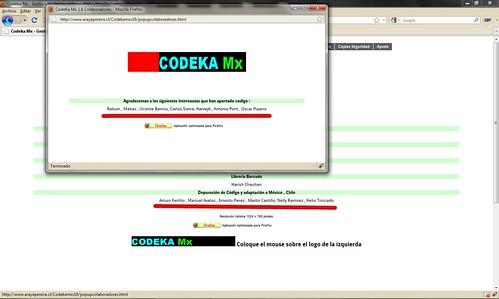 Un Codeka MX  que no me da el crédito por mis contribuciones